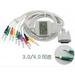 Nihon Kohden(Japan)  ECG Cable P/N EC6401 (AHA 12 Lead Banana 4 mm)(New, Compatible,Not Original)