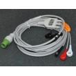 GE(USA)GE Defibrillators ECG Cable / cardioserv button three lead wire / 10-pin defibrillator accessories