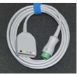 Mindray(China)original 12-pins 3-lead/5-lead ECG master cable split / IEC/AHA 5-lead defibrillation patient monitor cable