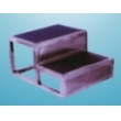 stanless steel footrest with double layer