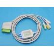 Nihon Kohden(Japan)  One-Piece ECG Cable - 3 Leads Clip ECG machine parts (New,Compatible,not Original)