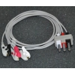 Philips(Netherlands)Philips split three leads clip-type / PHILIPS HP split three lead wire ECG Cable