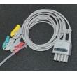Nihon Konden(Japan) Compatible Nihon Kohden split clip three lead wire / BR-903P ECG cable / Optical Leadwires