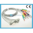 Philips(Netherlands)Trim III 10-lead leadwires, Clip, IEC (arm lead .1cm/54 in,2 .2 3leg lead cm/56 in)