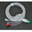 GE cardioserv defibrillator five Leadwires button / GE defibrillator ECG lead / GE Leadwires